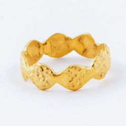 Gold Nugget Ring in 18 carat vermeil